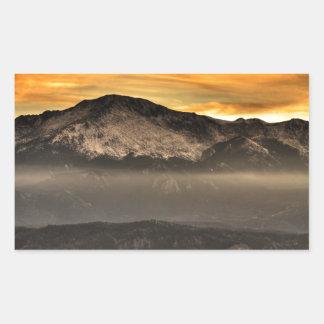 Fog Layer at Sunset Rectangular Sticker