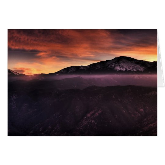 Fog Layer on Mountain Card