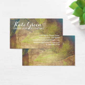 FOG Leaves Leaf Green Professional Nature Elegant Business Card