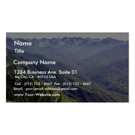 Fog Over Hills Business Card Template