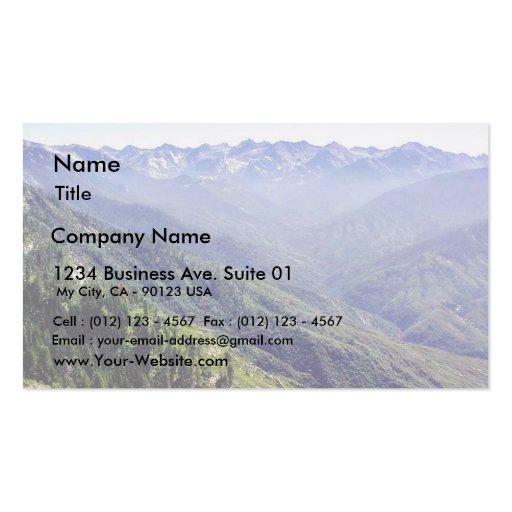 Fog Over Hills Business Card