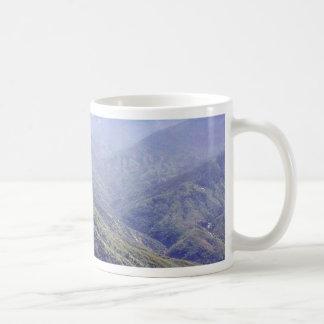 Fog Over Hills Basic White Mug