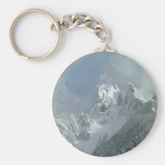 Fog Over The Mountain Top Keychain