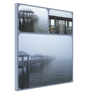 Fog Rolling In 2 Landscape Stretched Canvas Print