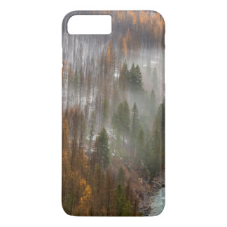 Fog Rolls In On Autumn Larch Trees iPhone 8 Plus/7 Plus Case