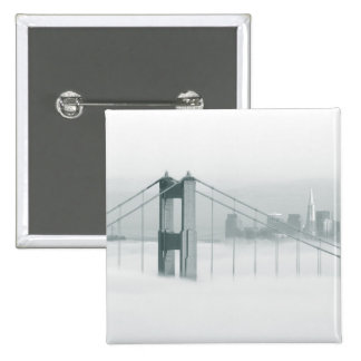 Fog rolls through the San Francisco bay 2 15 Cm Square Badge