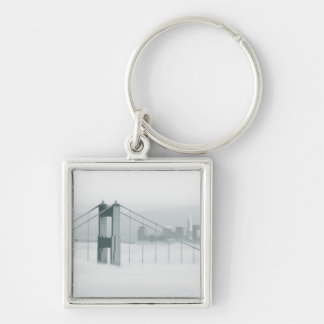Fog rolls through the San Francisco bay 2 Key Ring