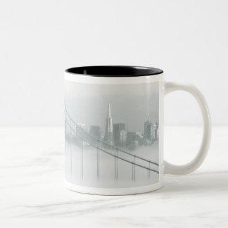 Fog rolls through the San Francisco bay 2 Coffee Mugs