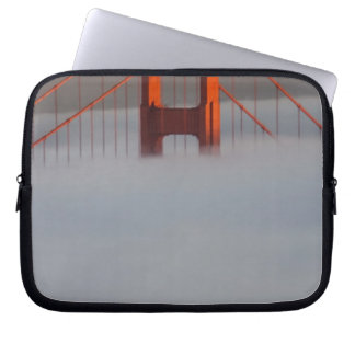 Fog rolls through the San Francisco bay covering 2 Computer Sleeve