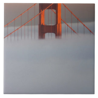Fog rolls through the San Francisco bay covering 2 Large Square Tile