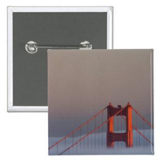 Fog rolls through the San Francisco bay covering Pins
