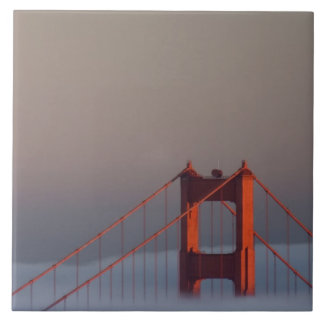 Fog rolls through the San Francisco bay covering Large Square Tile