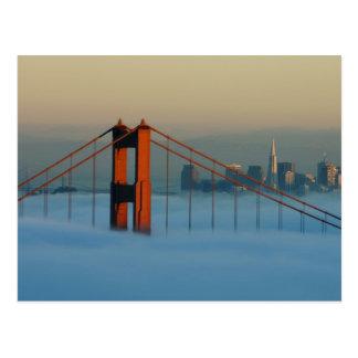 Fog rolls through the San Francisco bay Postcard