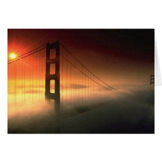 Fog Shrouded Golden Gate Greeting Card