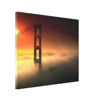 Fog Shrouded Golden Gate Gallery Wrapped Canvas