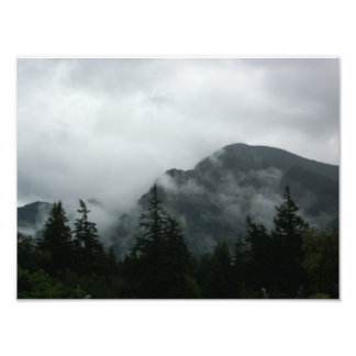 Fog Shrouded Mountaintop Photo Art