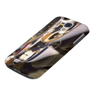 Fog surrounds four boats docked. galaxy s4 case