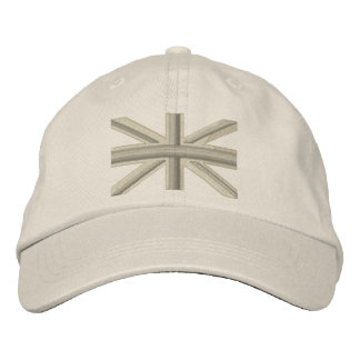 Fog Union Jack Flag England Swag Embroidery Embroidered Hats