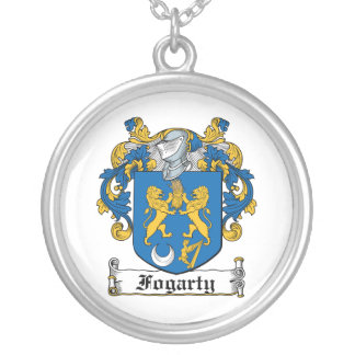 Fogarty Family Crest Silver Plated Necklace