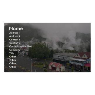 Foggy Area Of Whakarewarewa Geothermal At Rotorua Business Cards