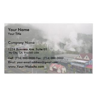 Foggy Area Of Whakarewarewa Geothermal At Rotorua Business Card