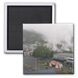 Foggy Area Of Whakarewarewa Geothermal At Rotorua Magnets