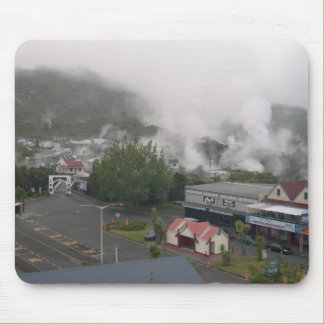Foggy Area Of Whakarewarewa Geothermal At Rotorua Mousepad