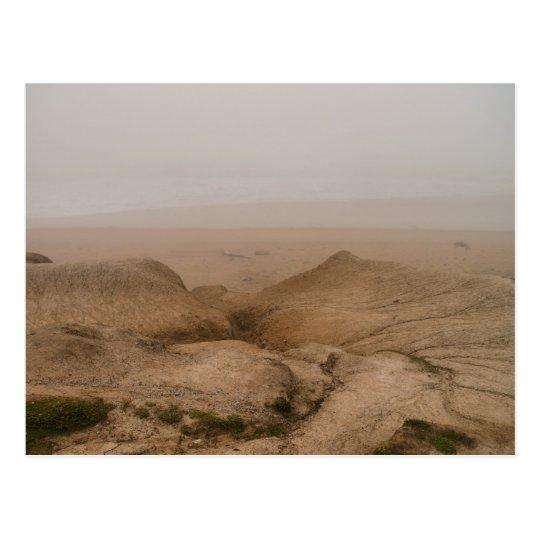 Foggy Beach Postcard