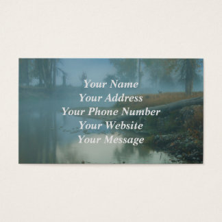 Foggy Bitterroot River Morning Design Business Card
