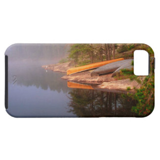 Foggy Canoe Campsite, Lake Kawnipi, iPhone 5 Cover
