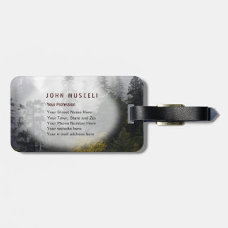 Foggy Elk River Old Growth Forest Office Suite Tag For Bags
