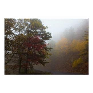 Foggy Fall colors on Skyline Drive, Virginia Photographic Print