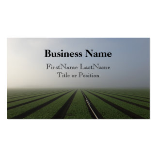 Foggy farm field 2 photo business card