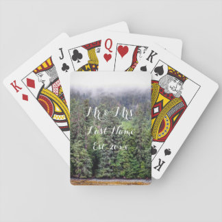 Foggy Forest Playing Cards