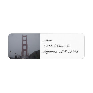 Foggy Golden Gate Bridge return address labels