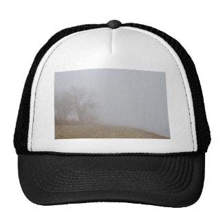 Foggy Lake Shoreline View Trucker Hat