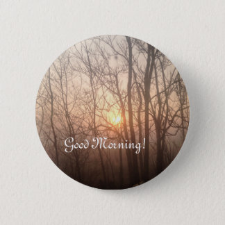 Foggy Michigan morning 6 Cm Round Badge