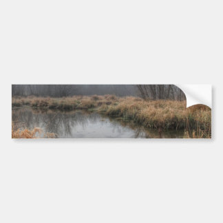 Foggy Morning At A Marsh Bumper Stickers