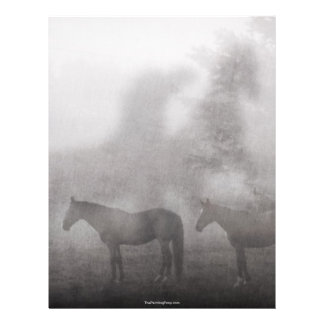 Foggy Morning Horse Custom Flyer