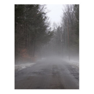 Foggy Morning Walk Postcard