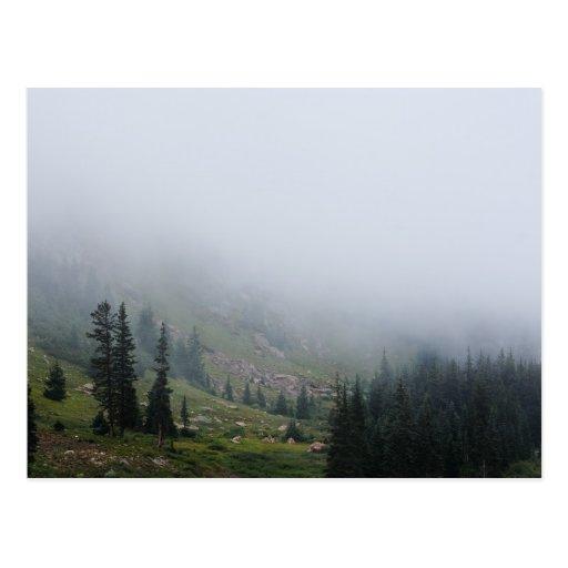 Foggy Mountain Slope photo postcard