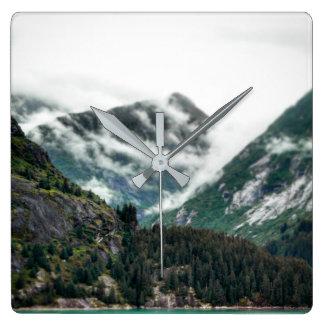 Foggy Mountain Tops Clock