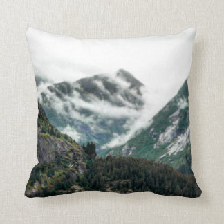 Foggy Mountain Tops Pillow