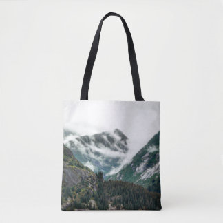 Foggy Mountain Tops Tote Bag