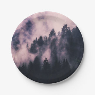 Foggy Night Paper Plate