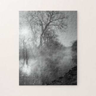 Foggy River Morning Sunrise Jigsaw Puzzle