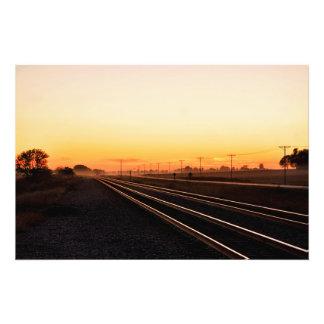 Foggy Sunset Photo Print