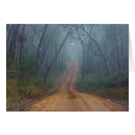 Foggy Trail Card