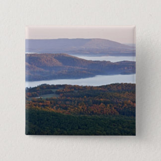 Foggy valleys and fall foliage in Ozark 15 Cm Square Badge