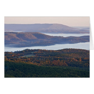Foggy valleys and fall foliage in Ozark Card